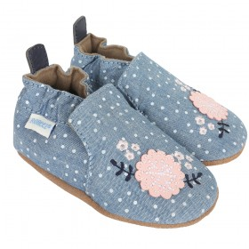 Robeez Chambray Bouquet Soft Soles