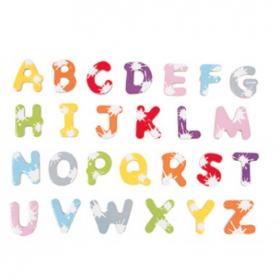 Janod Splash Magnetic Wooden Letters