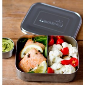 LunchBots Duo Stainless Steel Divided Food Container
