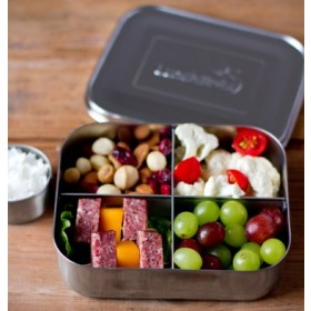 LunchBots Quad Stainless Steel Divided Food Container