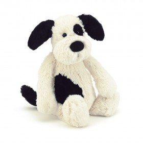 Jellycat Bashful Black & Cream Puppy Plush Toy