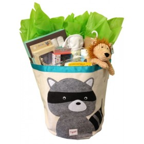 Cheeky Monkey New Baby Bin Gift Basket