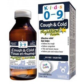 Homeocan Kids 0-9 Cough & Cold Nighttime Formula Syrup