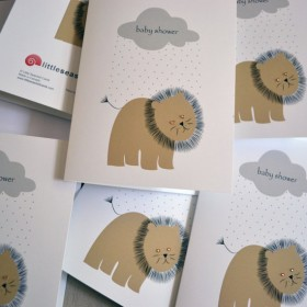 Little Seashell Greeting Card - Lion Baby Shower