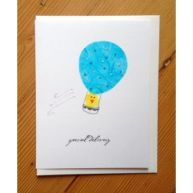"Flaunt Cards ""Special Delivery"" Chick In Balloon"