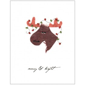 "Flaunt Cards ""Merry & Bright"" Moose"