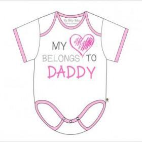 Itty Bitty Baby My Heart Belongs To Daddy Onesie