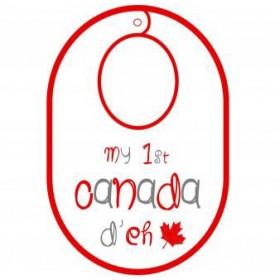 Itty Bitty Baby My First Canada Day Bib