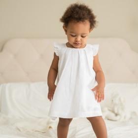 Beba Bean Box Pleat Linen Dress