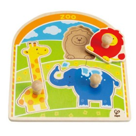 Hape Toys At The Zoo Knob Puzzle