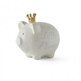 Mud Pie Gold Crown Little Prince Piggy Bank