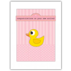 Little Seashell Greeting Card - Congratulations Ducky Pink