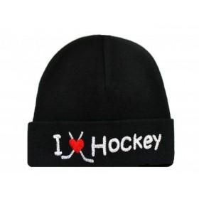 Itty Bitty Baby I Love Hockey Cap
