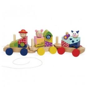Manhattan Toy Stack & Pull Train