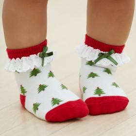 Elegant Baby Christmas Socks