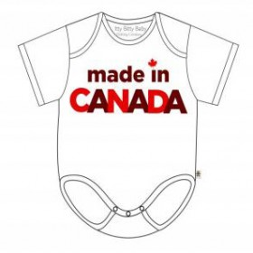 Itty Bitty Baby Made In Canada Onesie