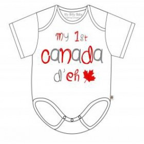 Itty Bitty Baby My First Canada Day Onesie