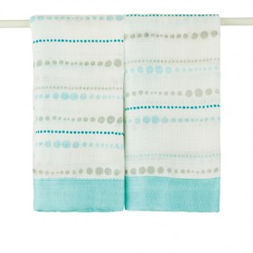 aden + anais Bamboo Issie Security Blanket Azure Beads
