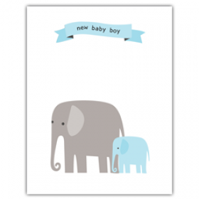 Little Seashell Greeting Card - Congratulations Elephant Boy