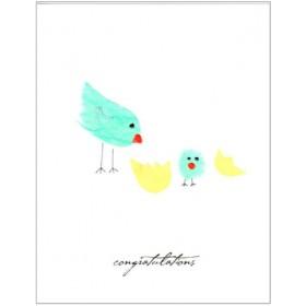"""Flaunt Cards """"Congratulations"""" Bird Hatching"""