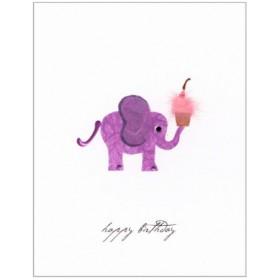 "Flaunt Cards ""Happy Birthday"" Purple Elephant"