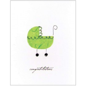 "Flaunt Cards ""Congratulations"" Green Buggy"