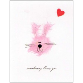"Flaunt Cards ""SomeBunny Loves You"" Pink Bunny"