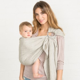 Sakura Bloom Classic Linen Ring Sling