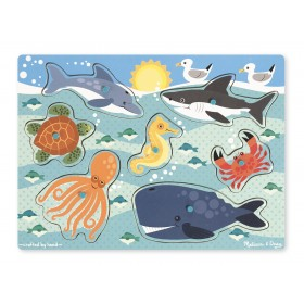 Melissa & Doug Sea Creatures Peg Puzzle