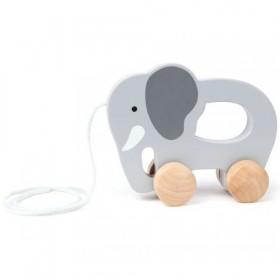 Hape Toys Elephant Push & Pull