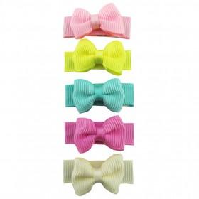 Baby Wisp Small Snap Grosgrain Tuxedo Bows - Ice Cream Parlour