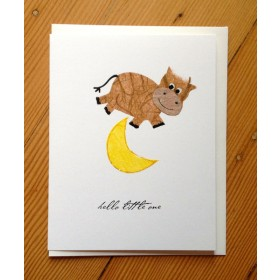 "Flaunt Cards ""Hello Little One"" Cow Jumping Over Moon"