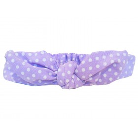 Baby Wisp Bunny Ears Top Knot Headband With Polka Dots