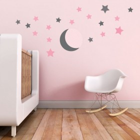 Trendy Peas Moon and Stars Wall Decals