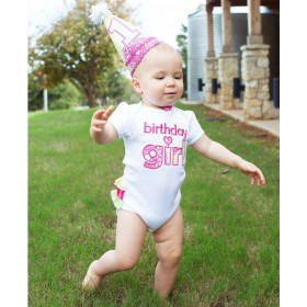 Ruffle Butts Fabulous Circles Birthday Girl Bodysuit