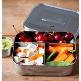 LunchBots Trio Stainless Steel Divided Food Container