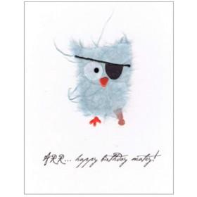 "Flaunt Cards ""Arr... Happy Birthday Matey!"" Blue Owl"