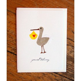 "Flaunt Cards ""Special Delivery"" Stork"