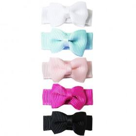 Baby Wisp Small Snap Grosgrain Tuxedo Bows - Cinderella's Picks