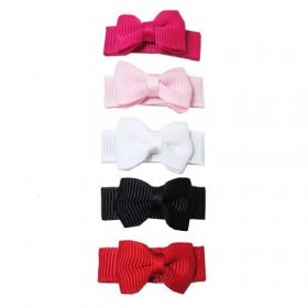 Baby Wisp Small Snap Grosgrain Tuxedo Bows - Classic