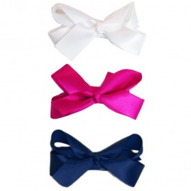 Baby Wisp Small Snap Satin Boutique Bows - Back to School