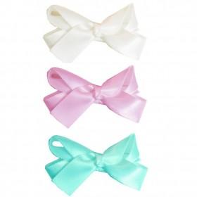 Baby Wisp Small Snap Satin Boutique Bows - Mermaid Princess