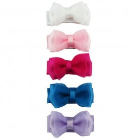 Baby Wisp Small Snap Fancy Bows - Light Organza