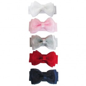Baby Wisp Small Snap Fancy Bows - Back to School