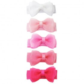 Baby Wisp Small Snap Fancy Bows - Pink Haze