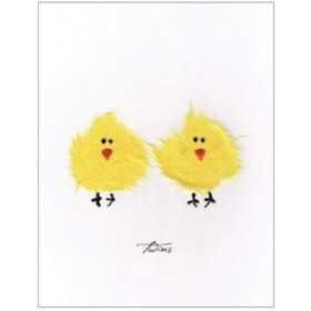 "Flaunt Cards ""Twins"" Two Chicks"