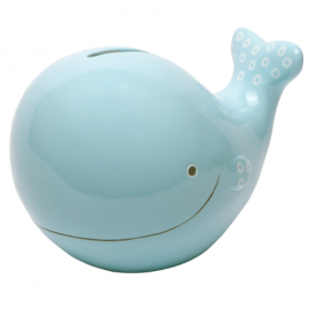 C.R. Gibson Ceramic Bank − Whale
