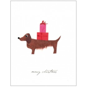 "Flaunt Cards ""Merry Christmas"" Brown Dog"