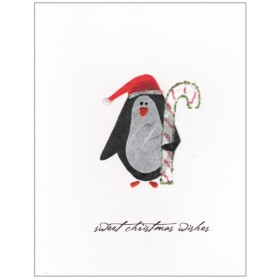 "Flaunt Cards ""Sweet Christmas Wishes"" Penguin"