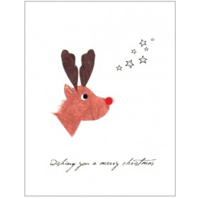"Flaunt Cards ""Wishing You A Merry Christmas"" Reindeer"